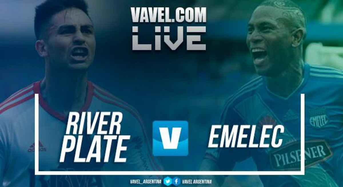 River Plate vs Emelec en vivo online en Copa Libertadores (2-1)