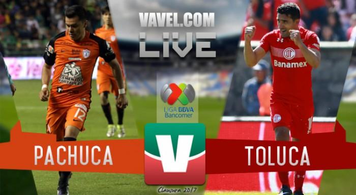 Toluca y Pachuca dan buen juego , pero hay empate sin goles en el Hidalgo