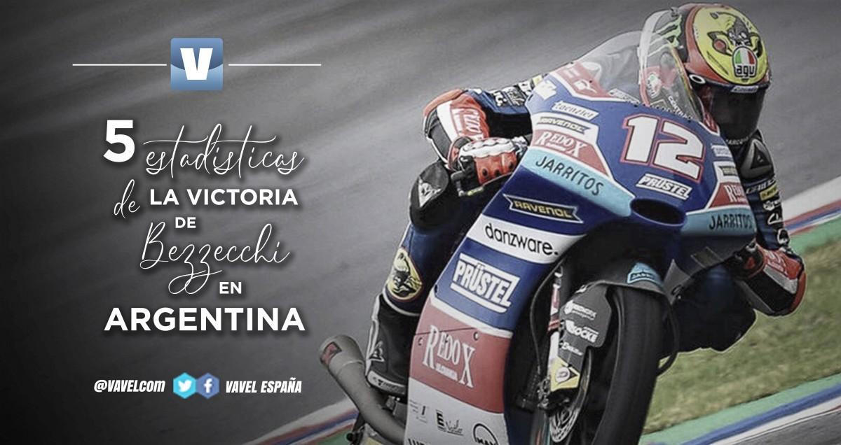 Cinco estadísticas de la victoria de Bezzecchi en el GP de Argentina
