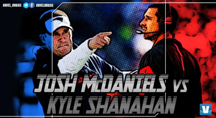 Super Bowl LI: comandantes dos melhores ataques, McDaniels e Shanahan duelam pelo título