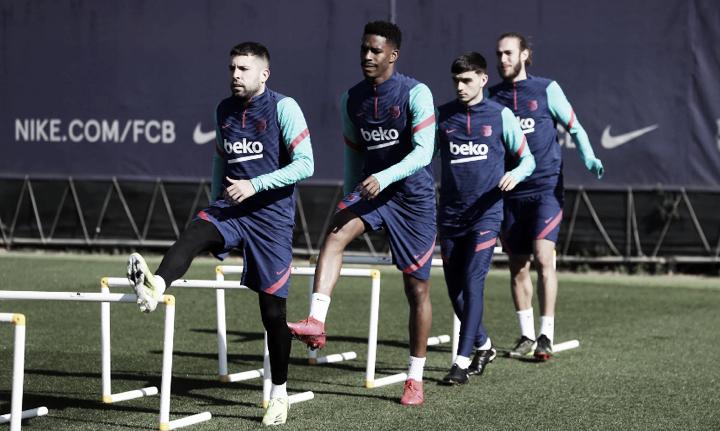 El Barça realiza un entreno de recuperación