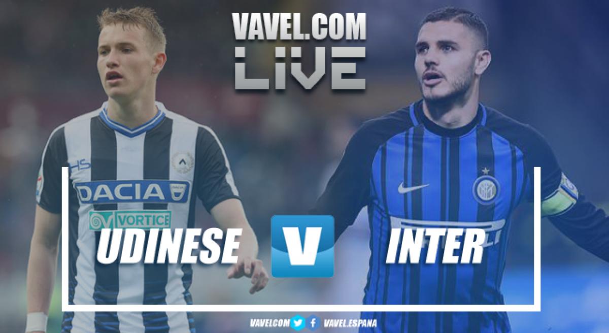 Risultato Udinese - Inter in diretta, LIVE Serie A 2017/18 - Ranocchia, Rafinha, Icardi, Valero! (0-4)