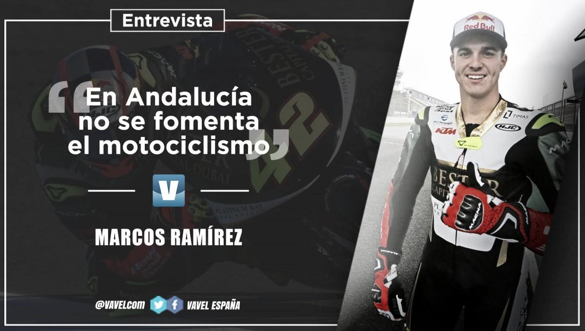 """Entrevista. Marcos Ramírez: """"En Andalucía no se fomenta el motociclismo"""""""