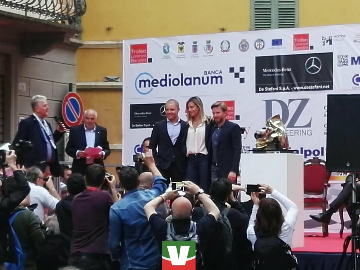 """Trofeo Bandini 2018 - Bottas premiato: """"Incredibile essere qui, grazie a tutti"""""""