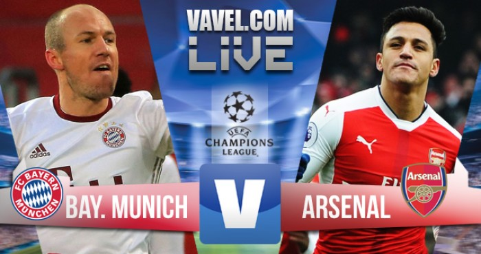 Resultado Arsenal x Bayern na Uefa Champions League (1-5)