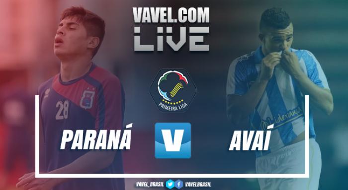 Resultado Paraná 2-0 Avaí na Copa da Primeira Liga 2017