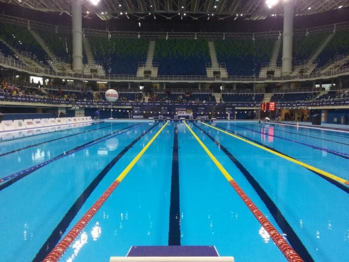 Na despedida do Parque Aquático Olímpico, Brasil é tricampeão do Desafio Raia Rápida