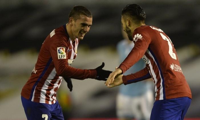 L'Atletico risponde al Barcellona: 0-2 al Celta Vigo e titolo d'inverno
