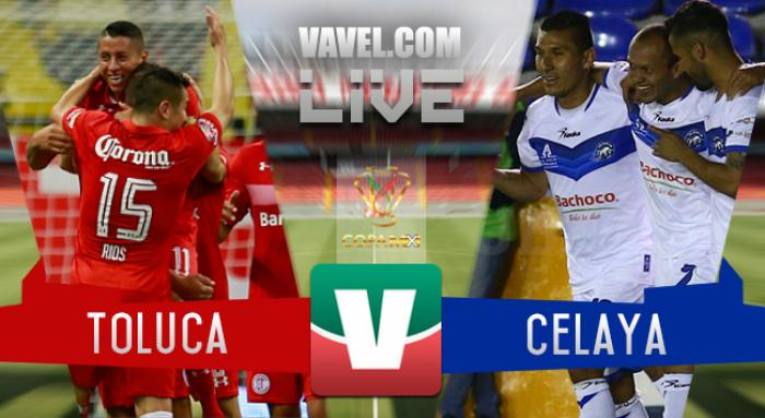 Resultado y goles del Toluca 3-1 Celaya de la Copa MX 2017