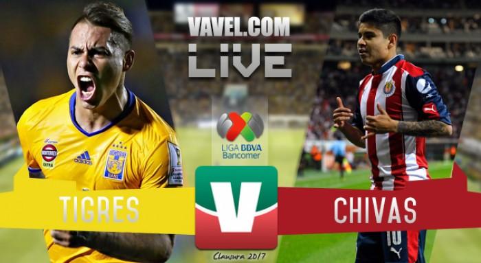 Resultado y goles del Tigres 2-2 Chivas de la Final de ida del Clausura 2017