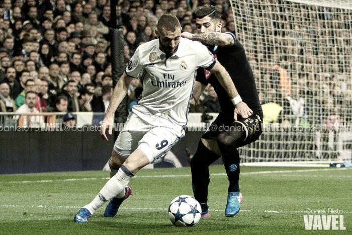 La afición elige a Benzema como el mejor ante el Nápoles