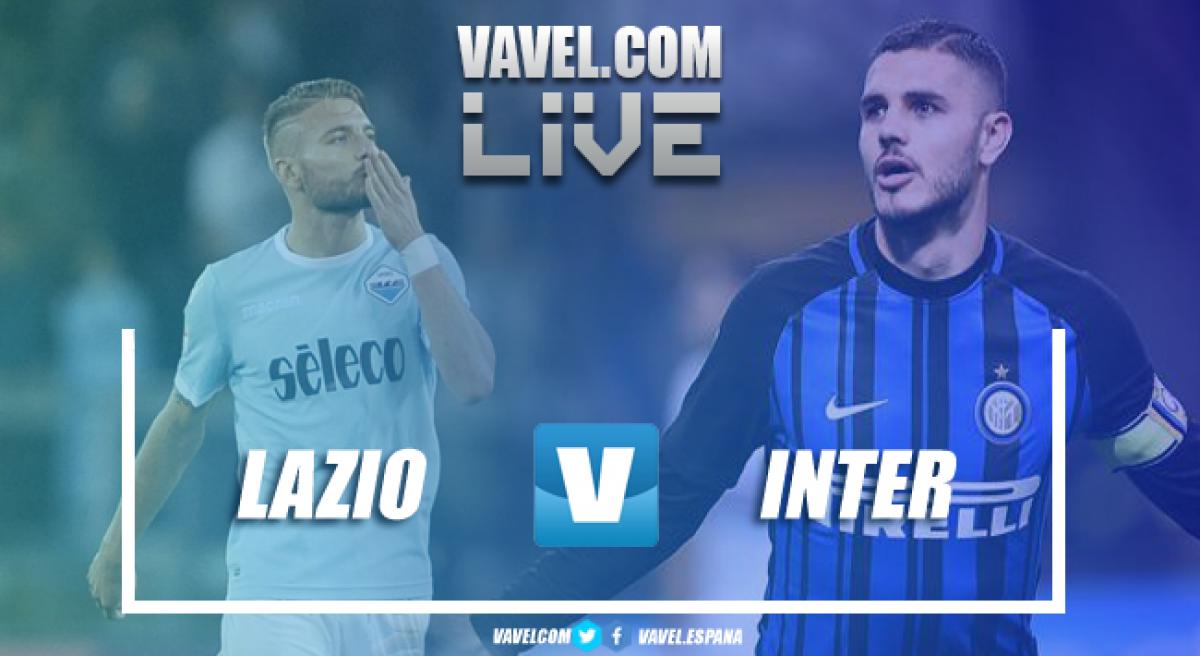 Risultato Lazio - Inter in diretta, LIVE Serie A 2017/18 - Marusic, D'Ambrosio, Anderson, Icardi, Vecino! (2-3)