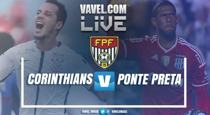 Gol e resultado Corinthians e Ponte Preta no Campeonato Paulista