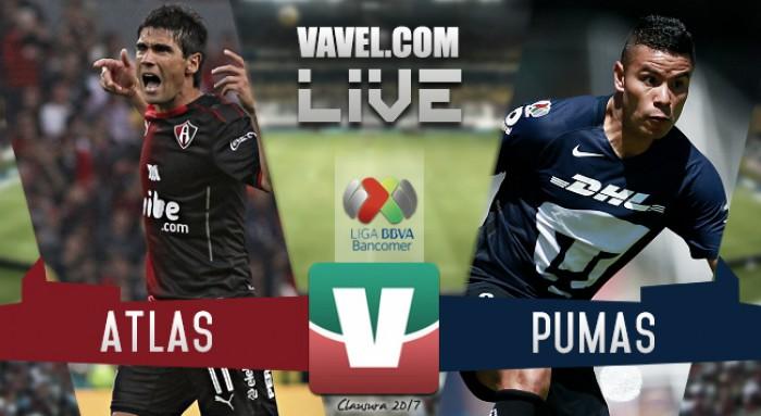 Resultado y goles del Atlas 1-1 Pumas de la Liga MX Clausura 2017