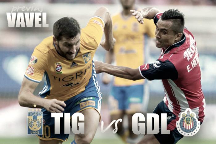 Previa Tigres - Chivas: campeón ante superlíder