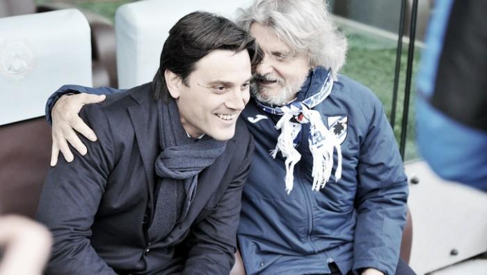 Sampdoria, Ferrero a sorpresa: confermato Montella anche per la prossima stagione