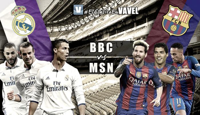 BBC vs MSN: los tridentes de El Clásico