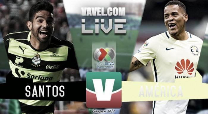 Resultado y goles del partido Santos vs América 2-1 de la Liga MX 2017