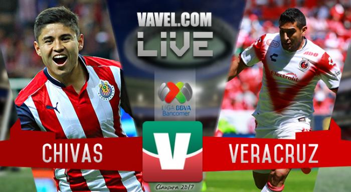 Resultado y goles del Chivas 2-0 Veracruz de la Liga MX 2017