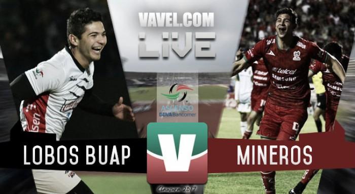 Resultado y goles del partido Lobos vs Mineros en Semifinal de Ida Ascenso MX (2-0)
