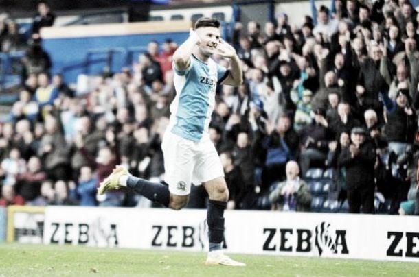 Marshall scored six goals last season before his season was curtailed by injury - image via Lancashire Telegraph