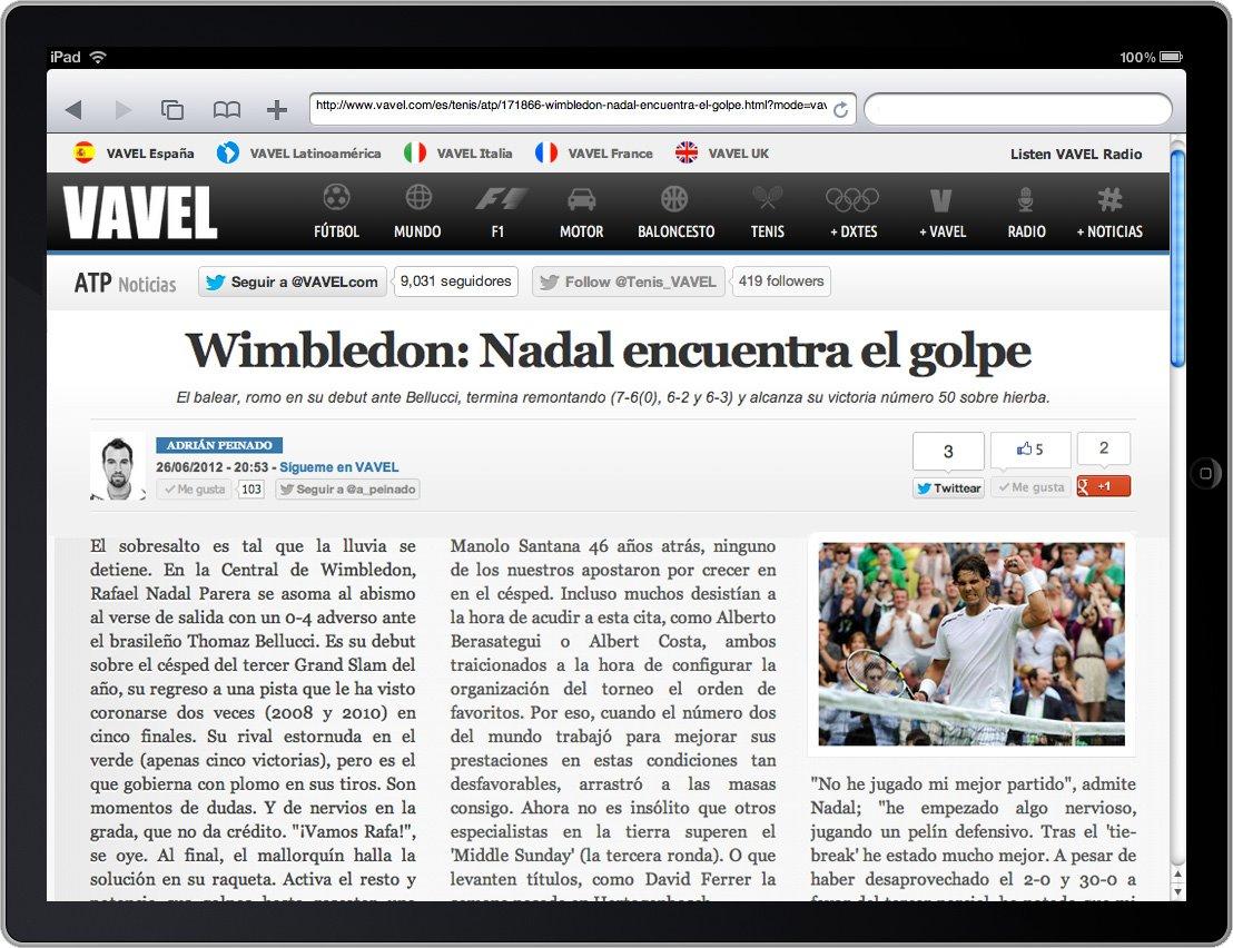 """VAVEL presenta el """"Newspaper Mode"""" para facilitar la lectura de prensa en internet"""