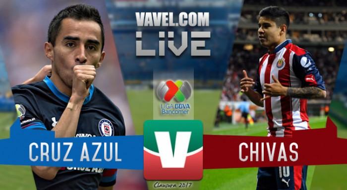 Resultado y goles del Cruz Azul 2-1 Chivas en Liga MX 2017