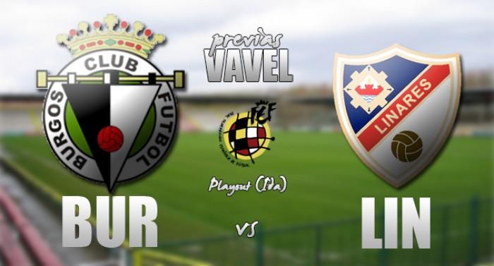 Burgos CF - Linares Deportivo: primer set en el Plantío