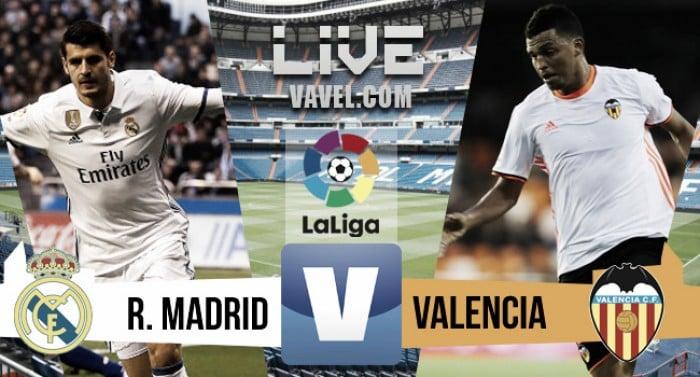 Veja como foi: Real Madrid x Valencia, pelo Campeonato Espanhol (2-1)