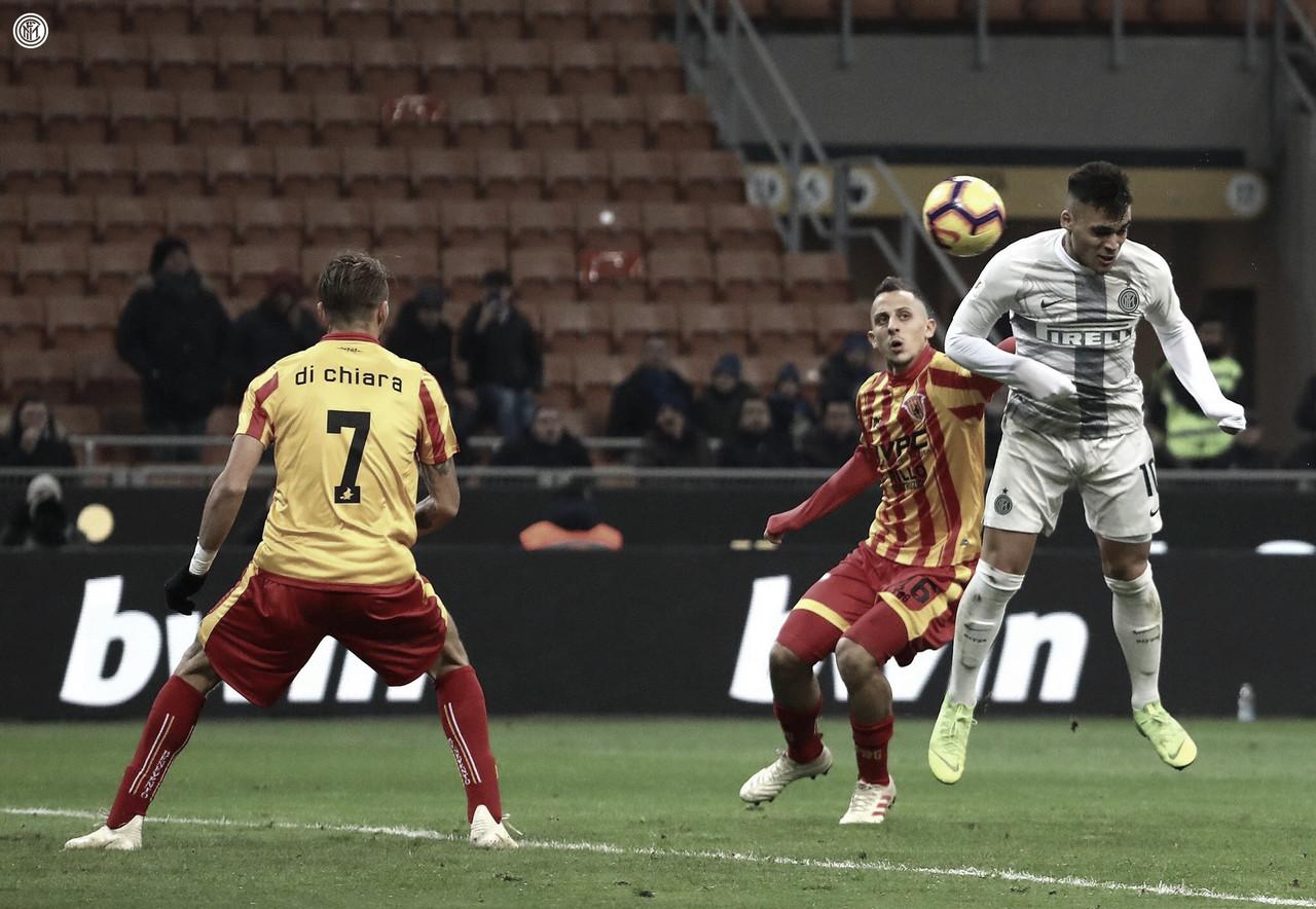 Inter atropela Benevento em grande dia de Lautaro Martínez e avança na Copa da Itália