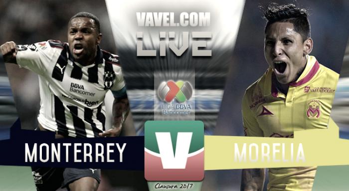 Goles y resultado del Monterrey 1-2 Monarcas Morelia en Liga MX