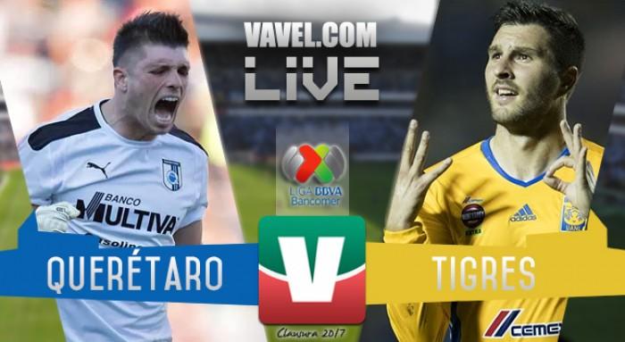 Resultado y goles del Querétaro 1-5 Tigres de la Liga MX 2017