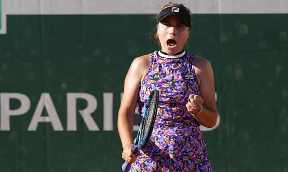 2021 French Open: Sofia Kenin battles past Jelena Ostapenko