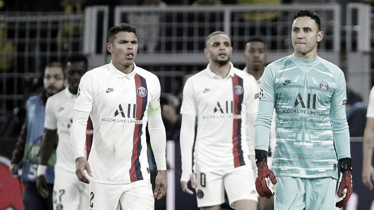 """Thiago Silva aponta erros do PSG e admite: """"Souberam como nos colocar em perigo"""""""