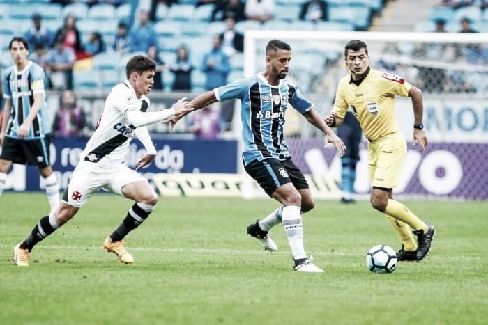 """Volante Michel enaltece atuação do Grêmio na vitória sobre Vasco: """"Grande atuação de todos"""""""