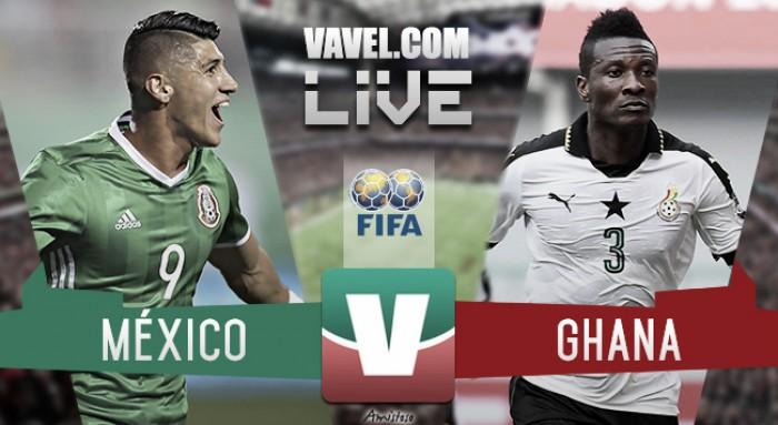 Resultado y goles del México 1 Ghana 0 Partido Amistoso