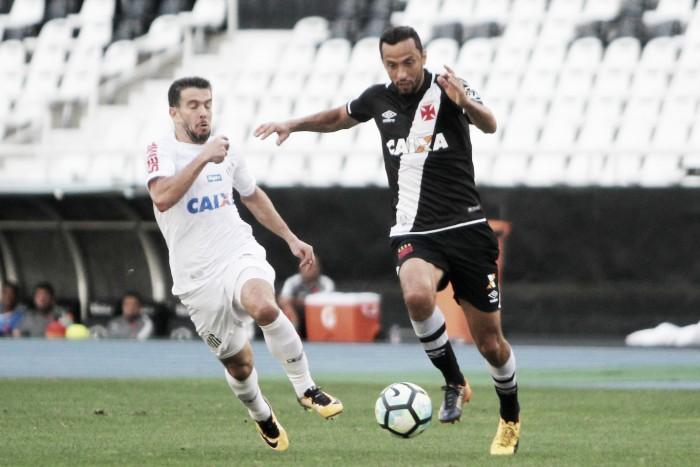 Em jogo com portões fechados, Vasco e Santos ficam no empate sem gols