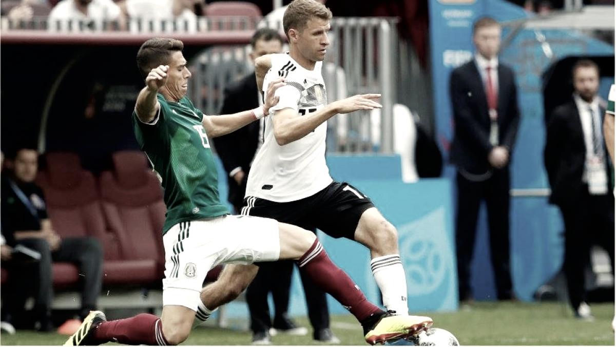 México ganó por la mínima diferencia ante el campeón Alemania