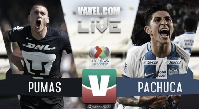 Resultado y goles del Pumas 1-0 Pachuca de la Liga MX 2017