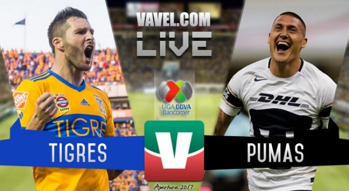 Resultado y goles del Tigres 2-0 Pumas de la Liga MX 2017