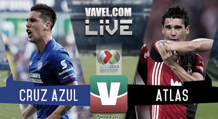Resultado y goles del Cruz Azul 2-1 Atlas de la Liga MX 2017