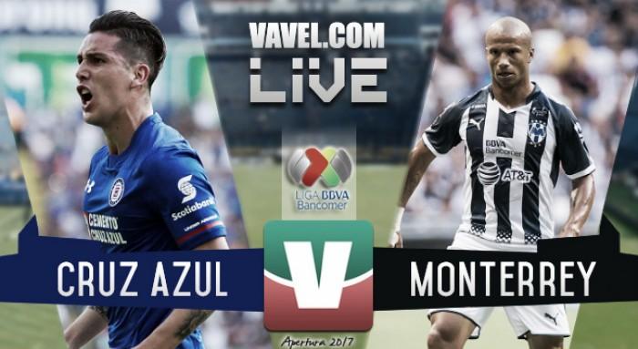 Resultado y goles de Cruz Azul (1-1) Monterrey en Liga Mx