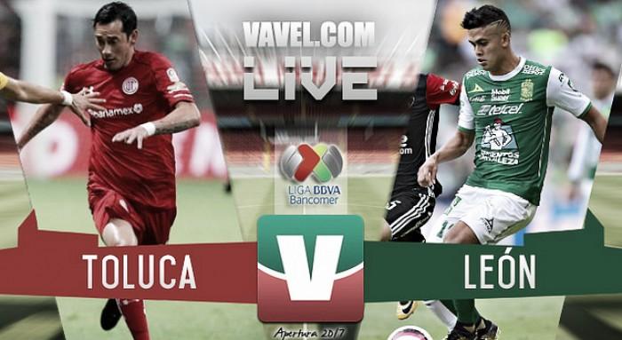 Resultado y goles del Toluca 3-1 León de la Liga MX 2017