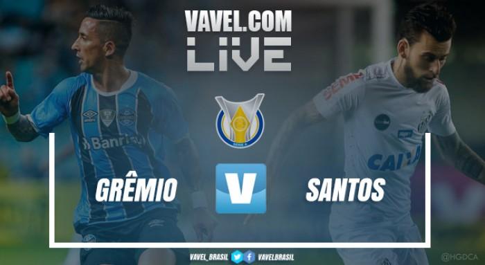 Resultado e gols jogo Grêmio 1x1 Santos no Brasileirão 2017