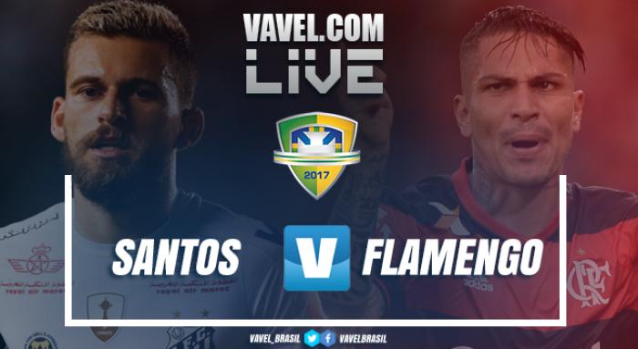 Resultado Santos x Flamengo AO na Copa do Brasil 2017 (1-2)