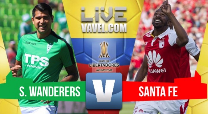 Santa Fe pega primero en la tercera ronda de la Copa Libertadores 1 - 2 ante Santiago Wanderers