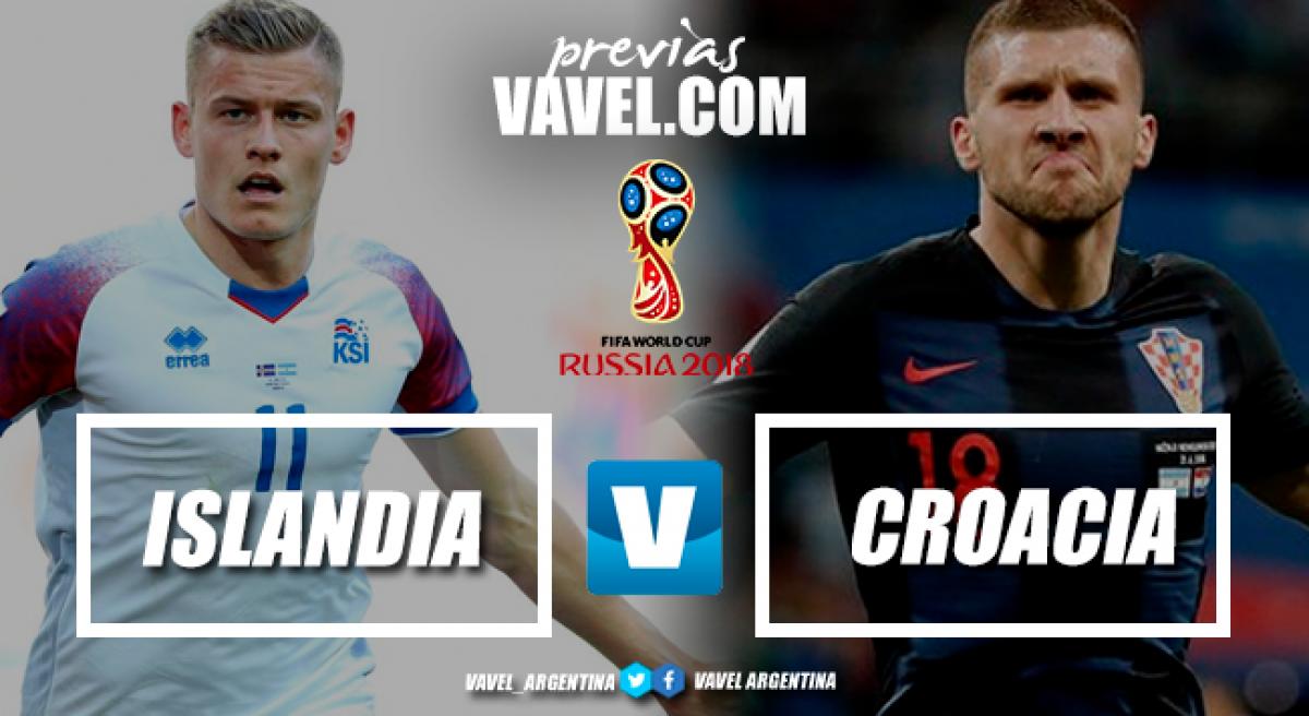 Previa Islandia - Croacia: el partido que no hay que perder de vista