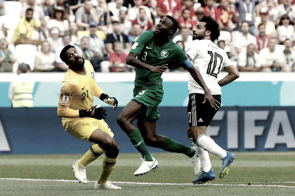Arabía Saudí venció a Egipto en el último partido del grupo A