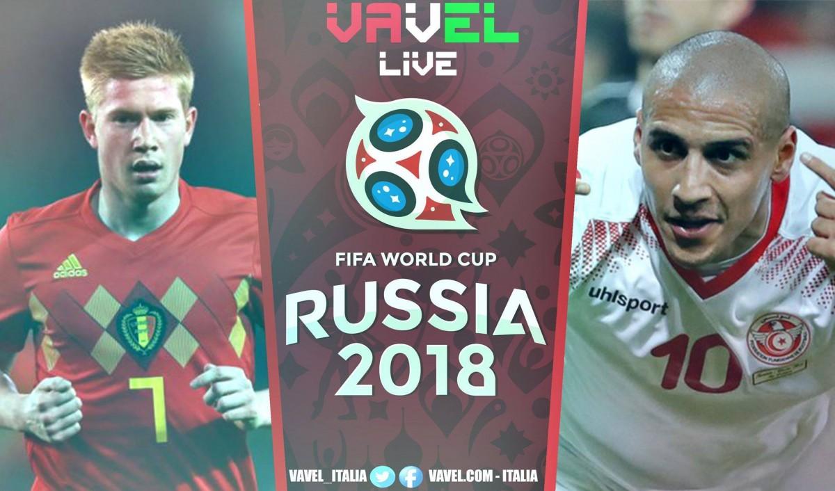 Belgio-Tunisia in diretta, Mondiale Russia 2018 LIVE (5-2): doppietta per Hazard e Lukaku!