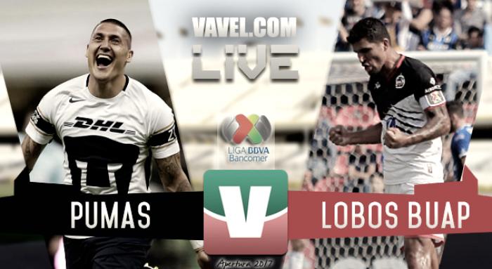 Pumas vs Lobos BUAP en vivo AHORA en Liga MX (0-0)